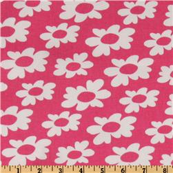 Premier Prints Wildflowers Candy Pink/White