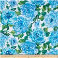 Ambrosia Large Floral Blue