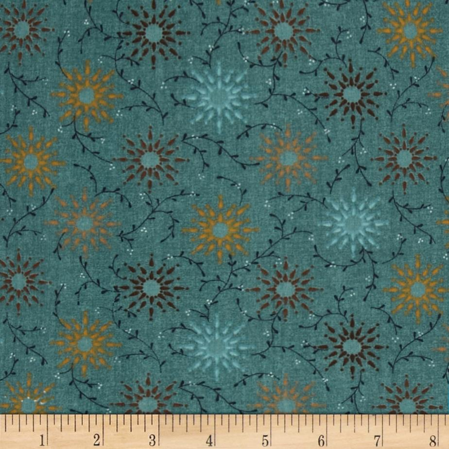 "108"" Wide Quilt Backing Prairie Vine Teal"