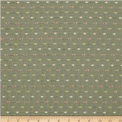 Richloom Flashy Chenille Dot Upholstery Jade Fabric