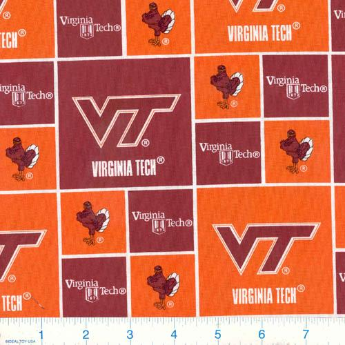 Collegiate Cotton Broadcloth Virginia Tech Hokies