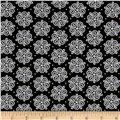 All That Glitters Metallic Scroll Medallions Black