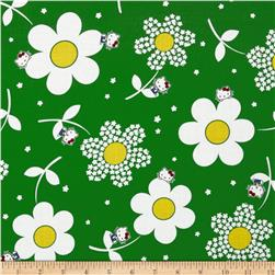 Hello Kitty Flower Power Green