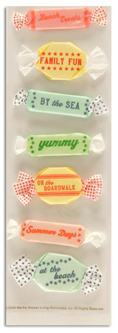 Martha Stewart Crafts Taffy Stickers