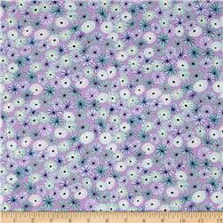 Michael Miller Sea Holly Meadow Puffs Lilac