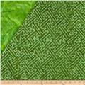 Indian Batik Double Sided Quilted Mesh Print Green