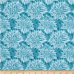 Ty Pennington Home Decor Sateen Fall 11 Dahlia Teal