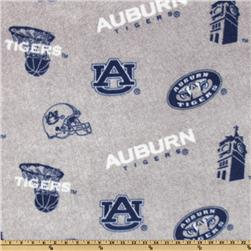 Collegiate Fleece Auburn University All Over Heather Grey