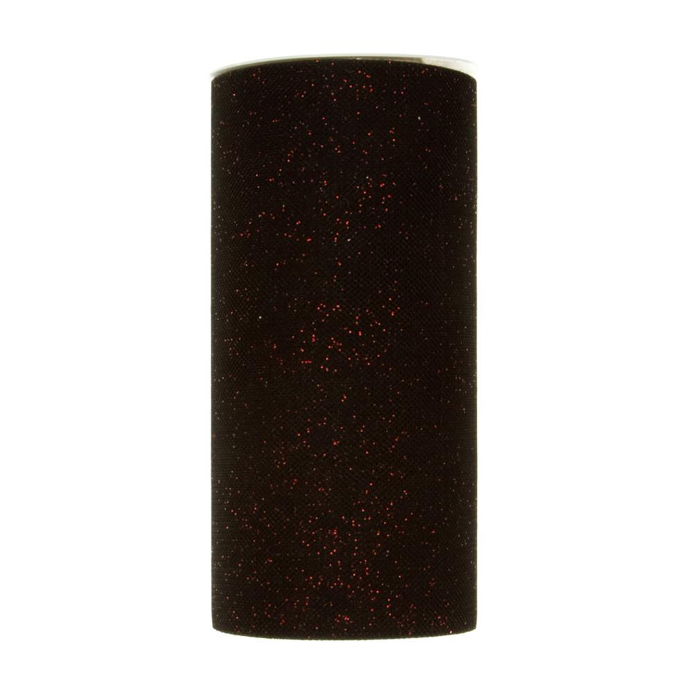 Tulle Spool Stardust Black/Red