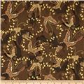 Narumi Metallic Butterflies Brown/Gold