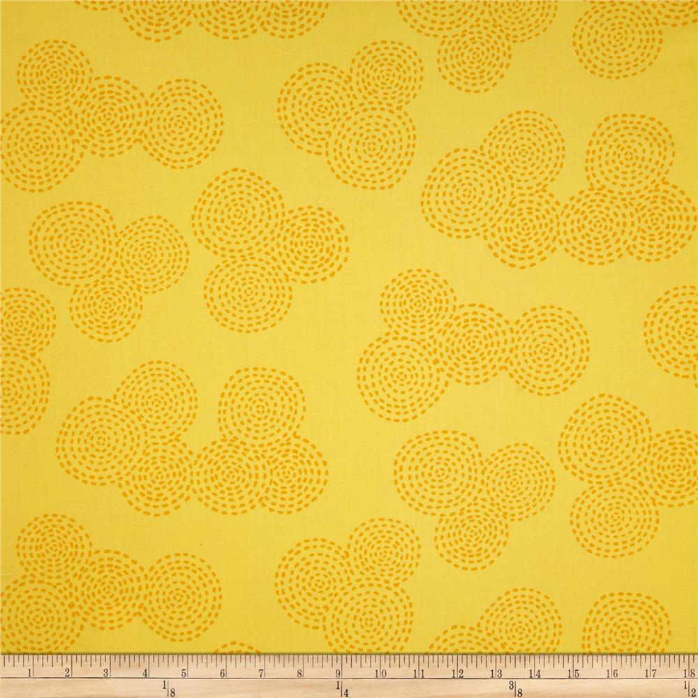 Michael Miller Contemporary Stitch Floral Sunny