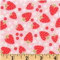 Michael Miller Strawberry Tea Party Blossom Berries Red/Pink