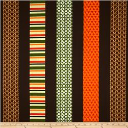 Kanvas Forest Friendzy Just Stripes Brown Fabric