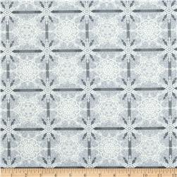 Crystal Palace Snowflake Plaid Silver Blue