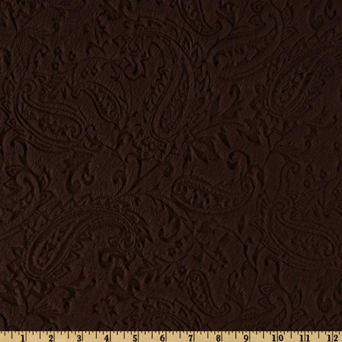 Shannon Minky Paisley Cuddle Embossed Chocolate