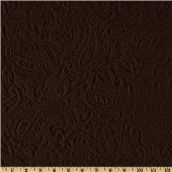 Minky Paisley Cuddle Embossed Chocolate Fabric