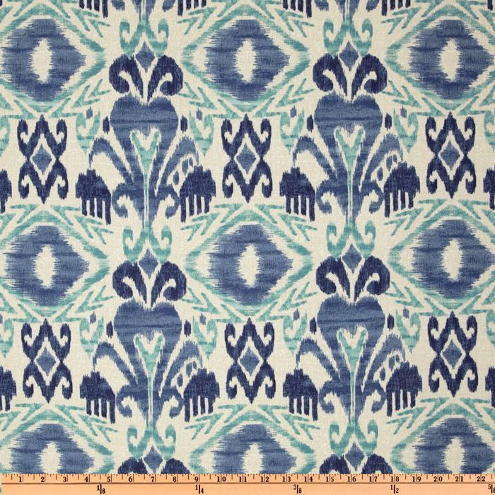 Richloom solarium outdoor sumter ikat sky discount for Fabric mural designs