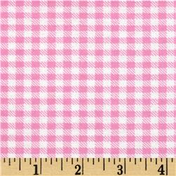 Aunt Polly's Flannel Gingham Pink