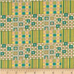 Tiffany Geometric Patchwork Green/Yellow/Teal