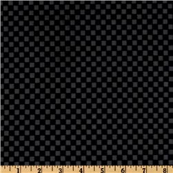 Bijoux Faux Leather Checks Black Fabric