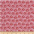 Riley Blake Holiday Banners Hearts Multi