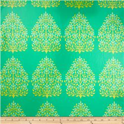 Amy Butler Lark Laminate Henna Trees Grass Fabric
