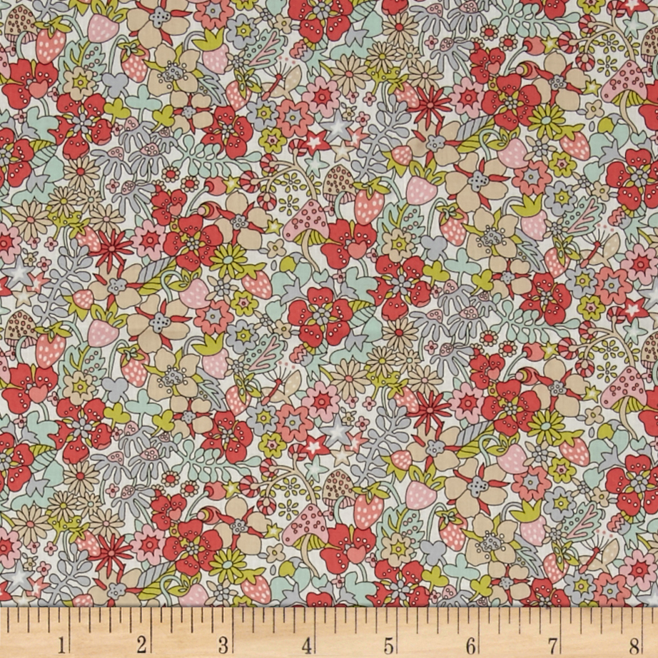 Liberty of London Flower Tops Lawn Melon Fabric by Liberty Of London in USA