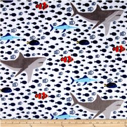 Minky Cuddle Prints Under The Sea Navy