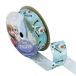 "7/8"" Frozen Ribbon Olaf Blue 3YD Spool"
