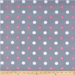Simply Simply Dot Fleece Grey/Pink