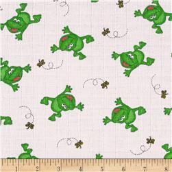 Baby Love Double Gauze Frogs Green