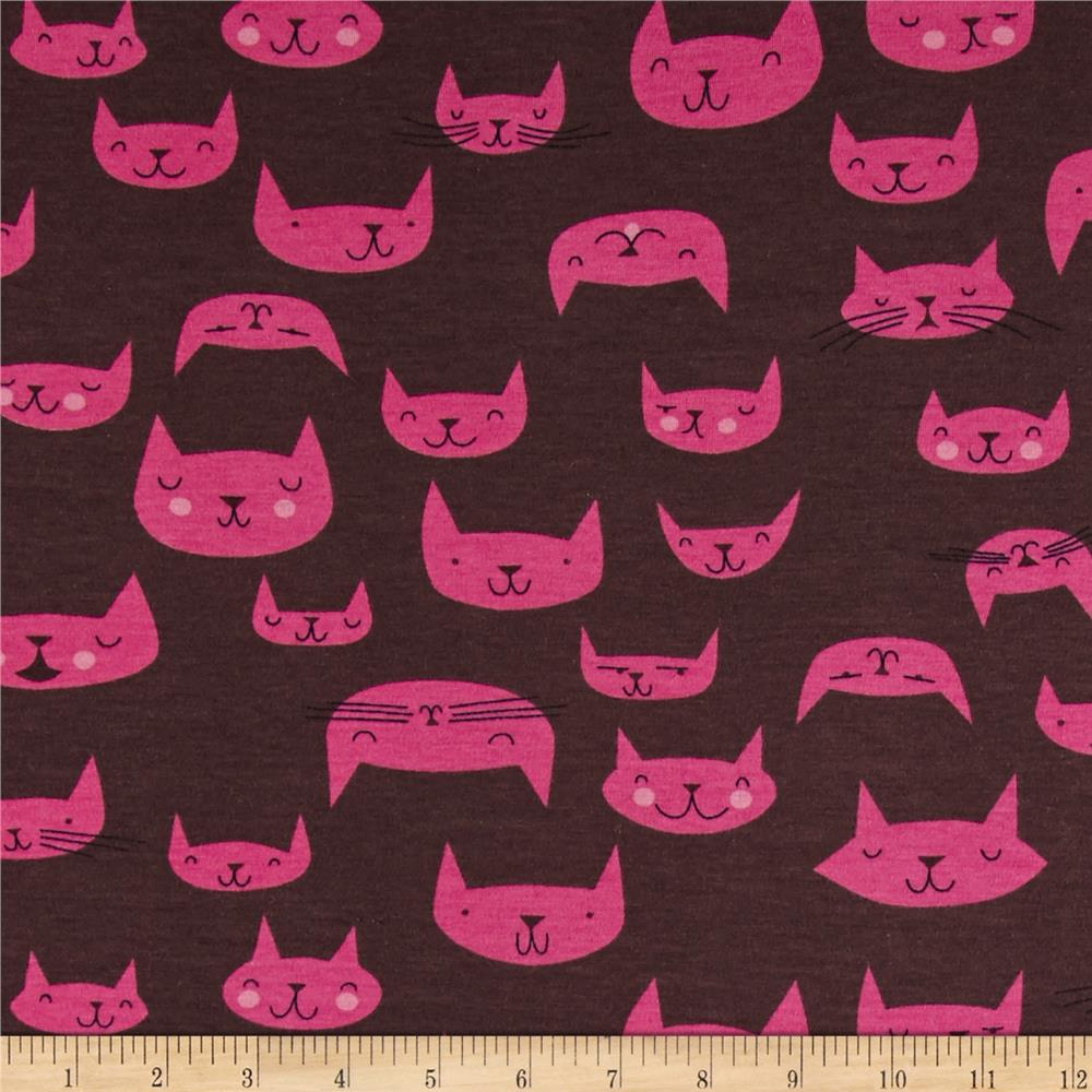 The Hit Parade Jersey Knits Cats Black