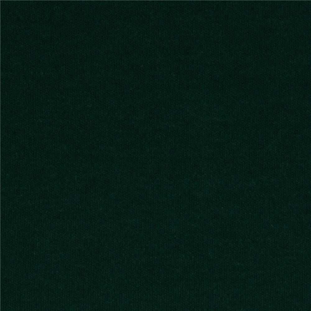 Cotton Interlock Knit Dark Green
