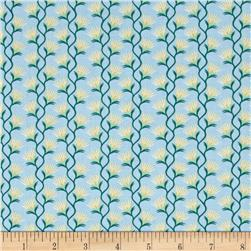Nevada State Flower Sagebrush Blue/Yellow/Green