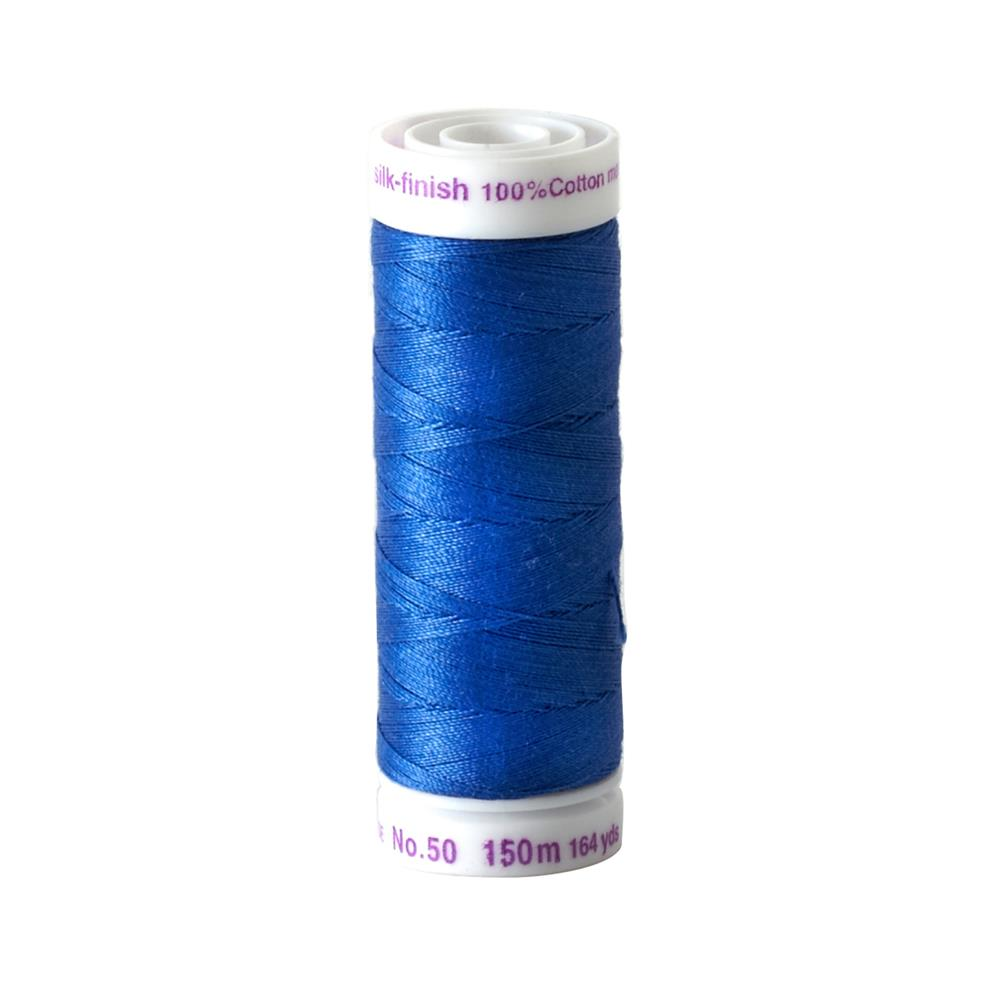 Mettler Cotton All Purpose Thread 3-ply 50wt 164YDS Royal Blue