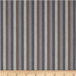 Peppered Cotton Small Stripe Earth