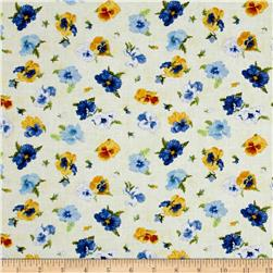 Walking on Sunshine Tossed Pansies Light Yellow