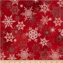 Winter Celebration Large Snowflake Red