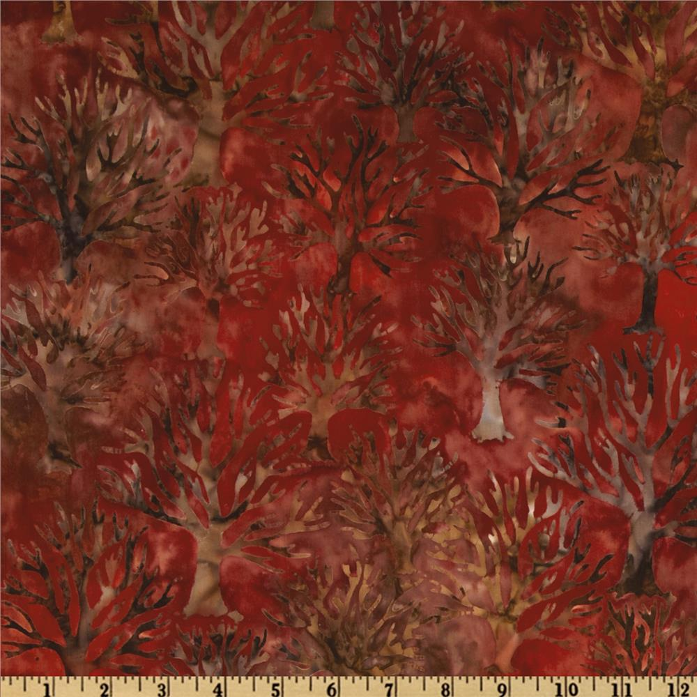 Northwoods Batiks Trees Small Redwood