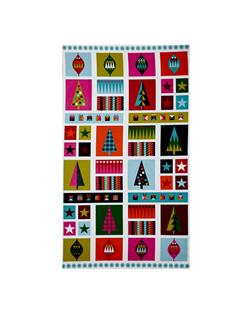 Wrap It Up Abstract Christmas Icons Panel Multi