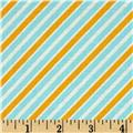 Kaufman Remix Diagonal Stripe Aqua