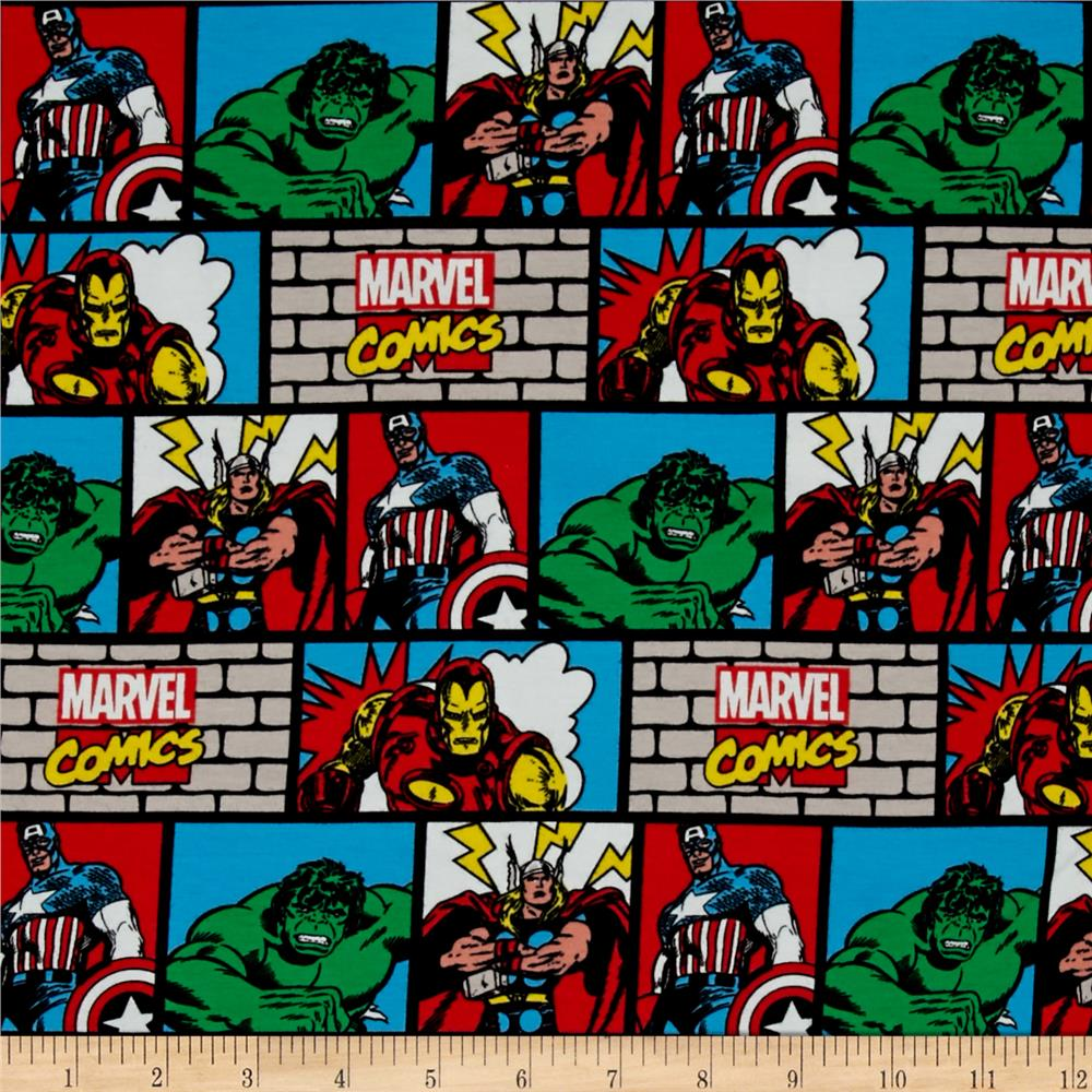 Marvel Comic Wall Jersey Knit Multi