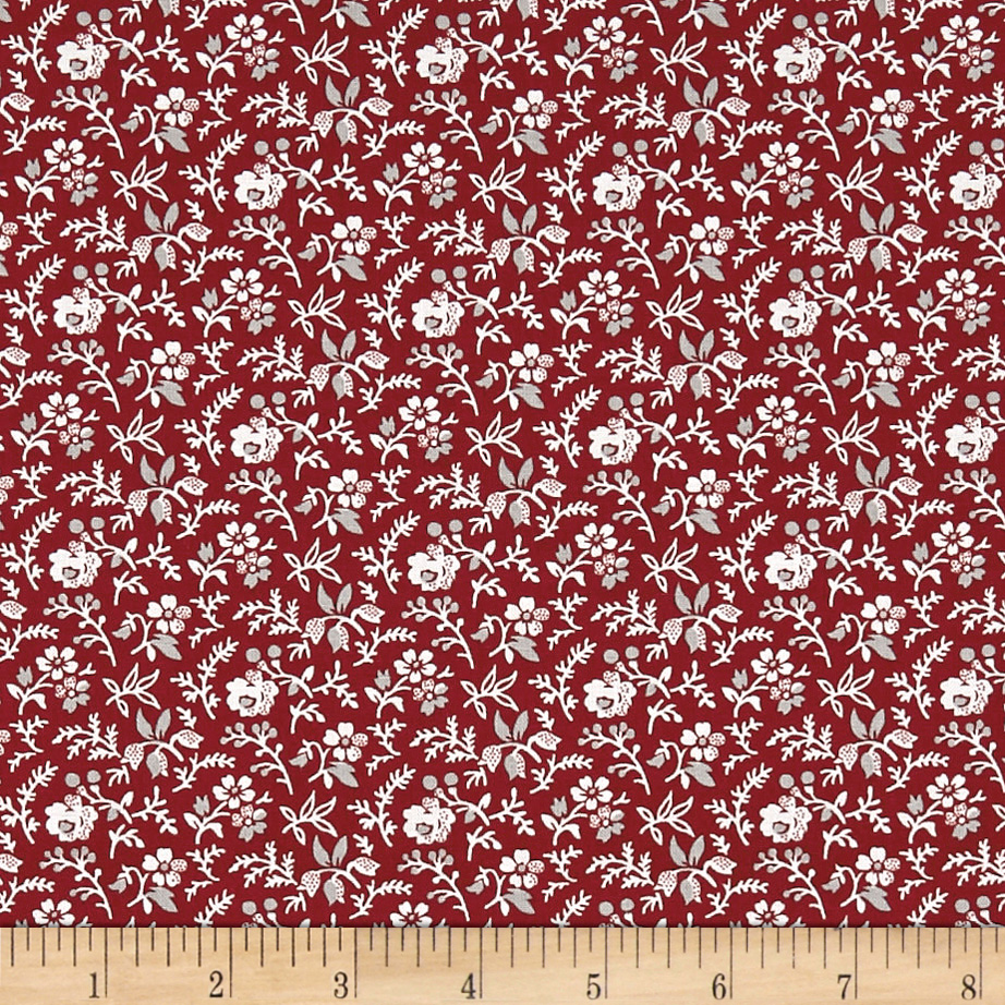 Penny Rose Rustic Romance Rustic Stems Red Fabric