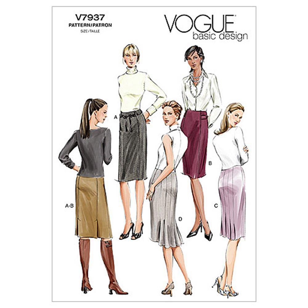 Vogue Misses'/Misses' Petite Skirt Pattern V7937 Size 0A0