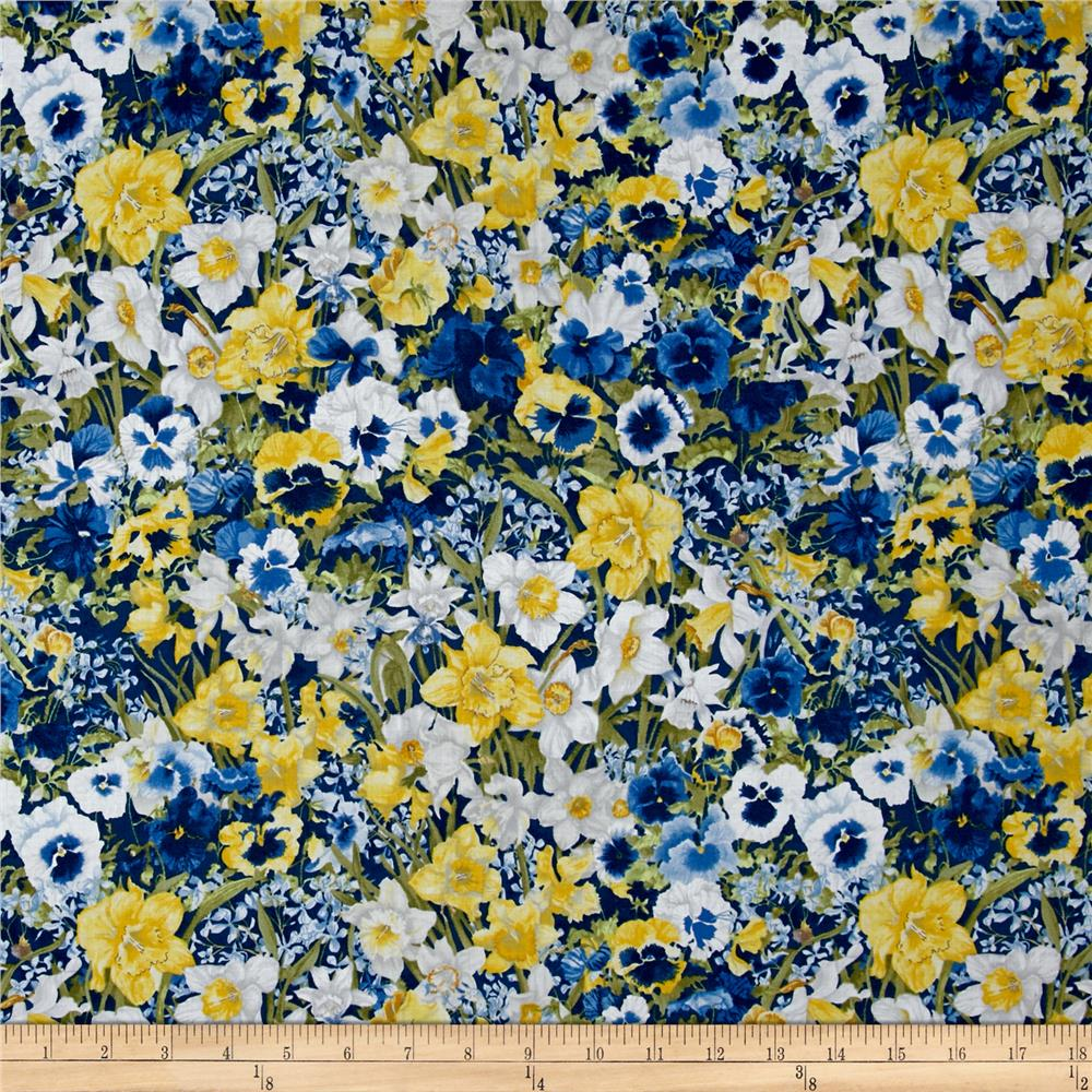 Walking on Sunshine Packed Floral Navy
