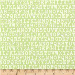 Cozy Cotton Flannel Alphabet Pistachio Fabric