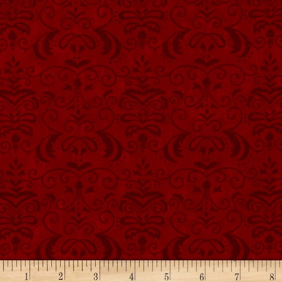 Moda Forest Fancy Autumn Damask Berry Red