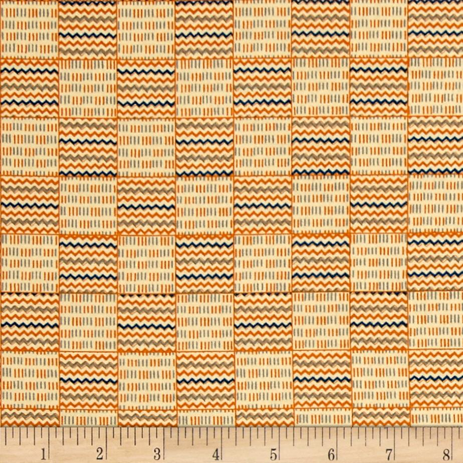 Out of Africa Geometric Patchwork Burnt Orange