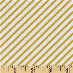 Riley Blake Unforgettable Wallpapers Stripe Yellow Fabric