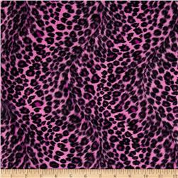 Velboa Faux Fur Leopard Small Fuchsia Fabric